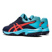Asics Gel Lethal MP 7 Womens Hockey Shoes (Peacoat-Flash Coral)
