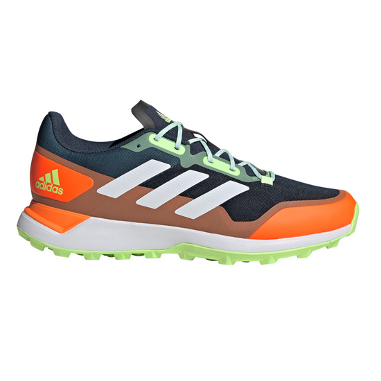 Adidas Zone Dox 2.0 Hockey Shoes (Navy-Orange-White)