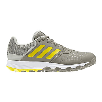 Adidas FlexCloud Hockey Shoes (Trace Carbon-Yellow)