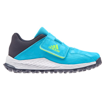 Adidas Youngstar Velcro Junior Hockey Shoes (Cyan)